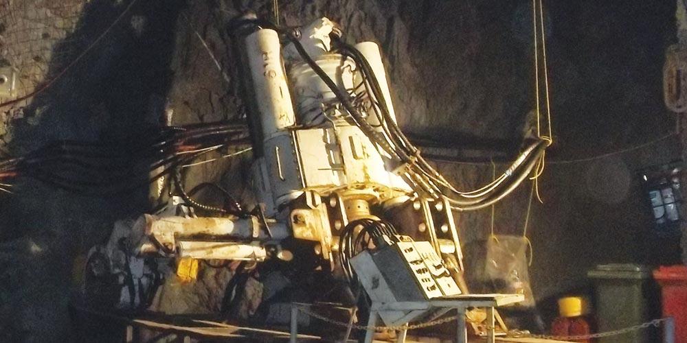 Byrnecut Raisedrilling machinery, Robbins 61R Drill Rig